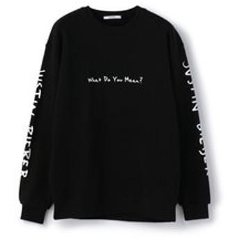 【メンズビギ:トップス】【JUSTIN BIEBER ジャスティンビーバー×RATTLE TRAP】袖プリントTシャツ