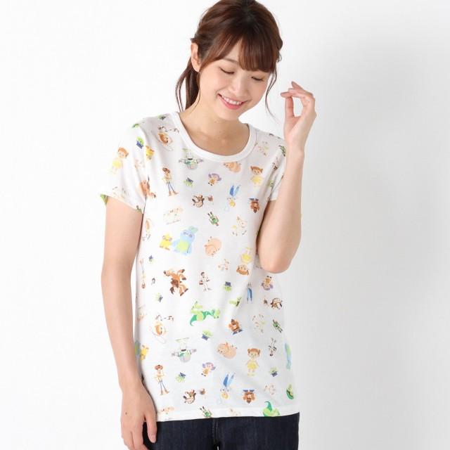 トイ・ストーリー半袖総柄プリントTシャツ【M~3L】