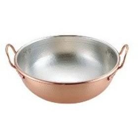 WSW0201 SA銅打出さわり鍋 手付・スズメッキ付き 30cm :_