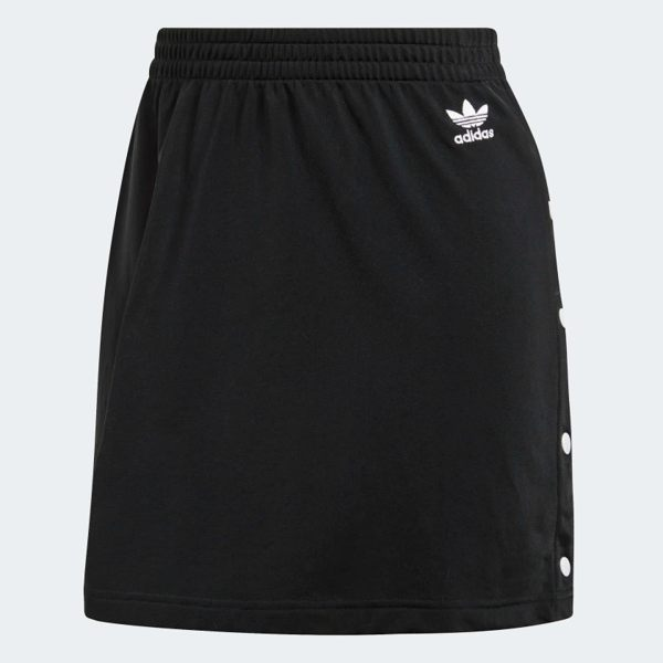 ADIDAS STYLING COMPLEMENTS SKIRT 女裝 短裙 休閒 窄版 排扣 合身 黑【運動世界】DW3897