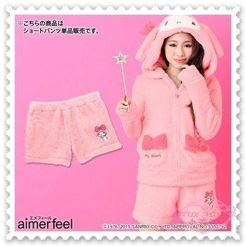♥小花花日本精品♥《Melody》aimerfeel x melody 品牌合作 長上衣加短褲 套裝組 32068603