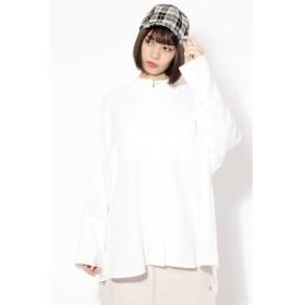 【ローズバッド/ROSEBUD】 オーバーサイズスタンドカラーシャツ