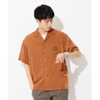 Other 刺繍オープンカラーシャツ メンズ ダークベージュ