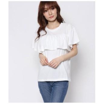 【50%OFF】 アウリィ フリルTシャツ レディース ホワイト F 【AULI】 【セール開催中】