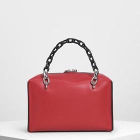 ダブルチェーン ハンドルバッグ /Double Chain Handle Bag (Red)