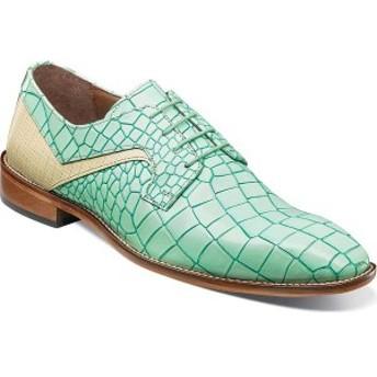 ステイシーアダムス メンズ ドレスシューズ シューズ Triolo Oxford Light Aqua Multi Croc/Lizard Print Leather