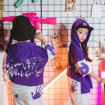 キッズダンス衣装 セットアップ ダンス 衣装 ダンスパーカー ジャズtシャツ 衣装 子供服 キッズダンス ヒップホップ ダンス衣装