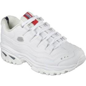 スケッチャーズ レディース スニーカー シューズ Energy White Leather/Silver Trim (WML)