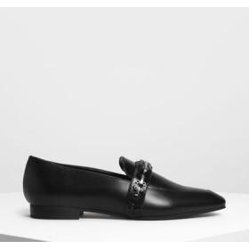 【再入荷】チェーンディテールローファー / Chain Detail Loafers (Black)