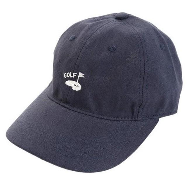 PGAC(PGAC) リネン刺繍キャップ GREEN 897PA9ST1743 NVY (Men's)