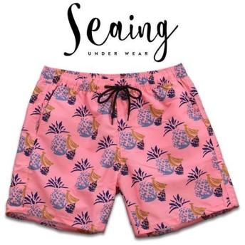 【メール便(30)】 (シーング)Seaing PINE SHORTS 水着 トランクス メンズ ボードショーツ スイムウェア ハーフパンツ サーフパンツ M L