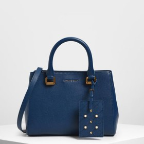 クラシック トップハンドルバッグ / Classic Top Handle Bag (Dark Blue)