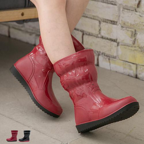 雨靴.MIT 雨靴韓風必敗中筒厚底短靴