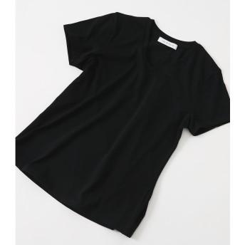 ベーシックショートスリーブVネックTシャツ BLK