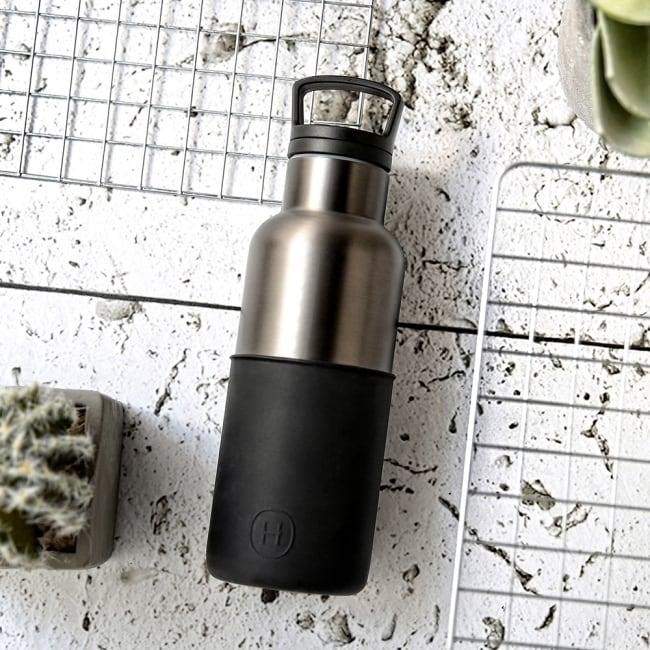 HYDY 油墨黑-鈦灰瓶 時尚保溫水瓶 480ml