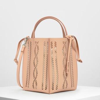 セミシースルー バケツバッグ / Semi See-through Bucket Bag (Beige)