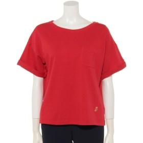 52%OFF Gootty's Burg (グッティーズバーグ) ハチハチビンテージ袖ロールアップボートネック半袖Tシャツ ピンク
