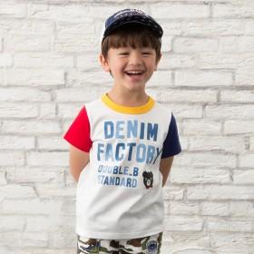 ミキハウス 【アウトレット】デニム風ロゴプリント半袖Tシャツ マルチカラー