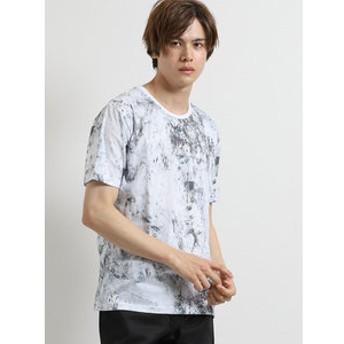【semantic design:トップス】ライトフォース/LIGHTFORCE 総柄クルーネック半袖Tシャツ
