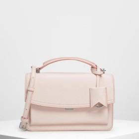 スリングフラップ クロスボディ / Single Flap Crossbody Bag (Light Pink)