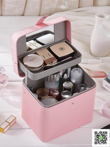 化妝品手提韓國大容量收納包多層化妝箱簡約便攜多功能小號化妝包 一件免運