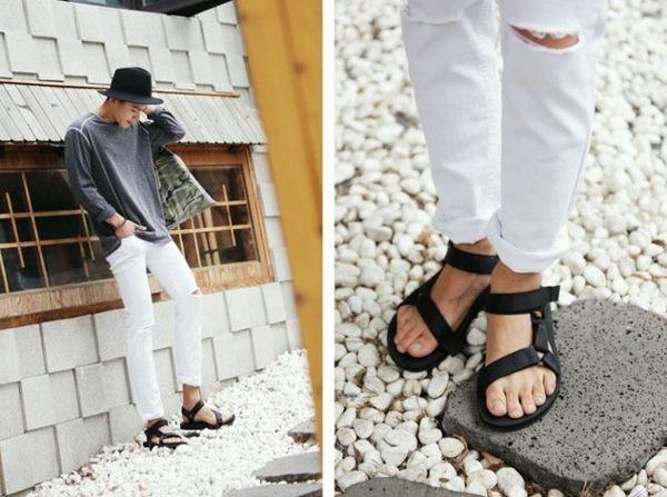【找到自己】韓國正品 白破褲 刀割 牛仔 破牛仔褲 破褲 破洞 破膝蓋 小破褲 白褲 男