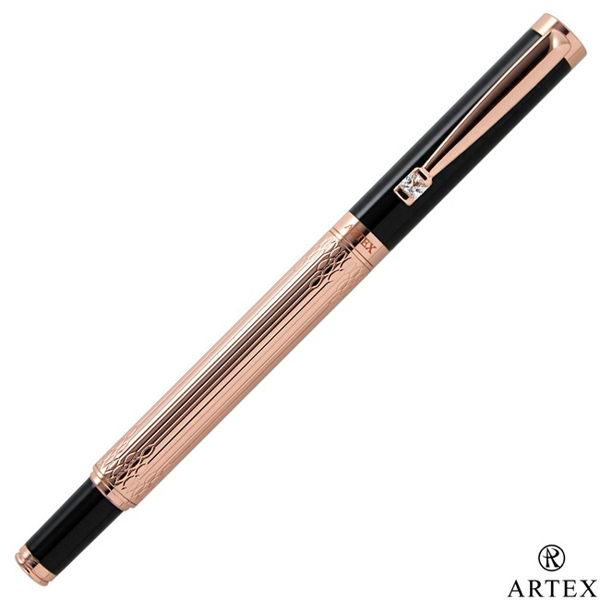 ■全金屬銅製筆身、質感精緻搭配方晶鋯石筆夾、優雅大方