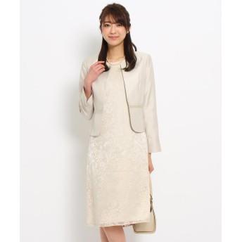 WORLD FORMAL SELECTION(ワールド フォーマル セレクション) Rifanne シャンタンジャケット+スカート+オパールワンピース