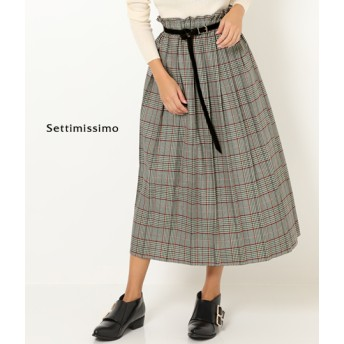 【セール開催中】ANAP(アナップ)グレンチェックプリーツロングスカート