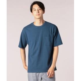 (FREDY & GLOSTER/フレディアンドグロスター)ルーピング天竺Tシャツ/メンズ ブルー