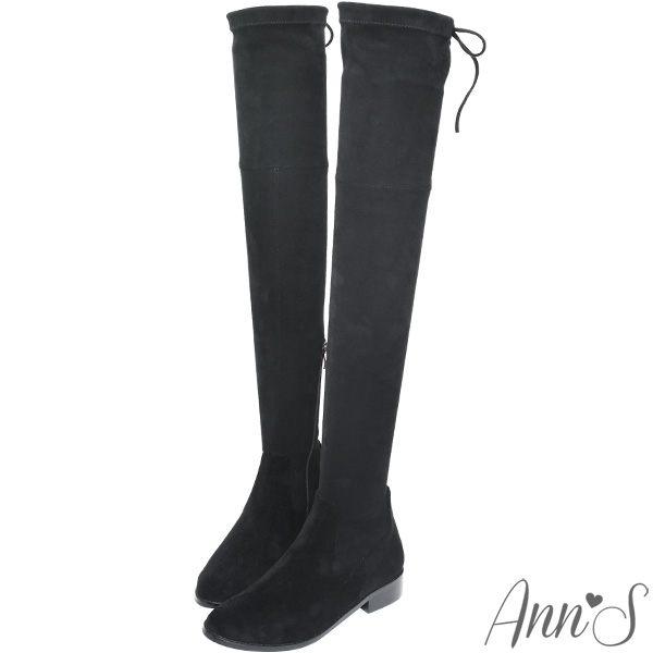 Ann'S 絨質XXS激窄版不掉筒不滑落過膝靴