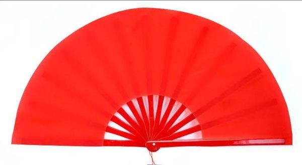 山人運動素面竹骨響扇太極扇太極拳功夫扇紅色武術扇太級扇表演扇