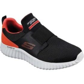 スケッチャーズ メンズ スニーカー シューズ Depth Charge 2.0 Slip-On Sneaker Black/Orange
