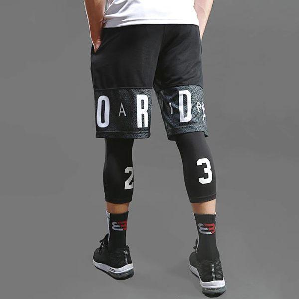籃球褲 訓練運動短褲跑步緊身褲健身寬鬆過膝五分夏季男褲衩字母