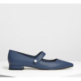 ポインテッドトゥ メリージェーン / Pointed Toe Mary Janes (Dark Blue)