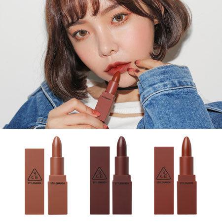 韓國 3CE 微醺玫瑰霧色唇膏 3.5g Mood Recipe 霧面 3CE唇膏 唇彩 3CONCEPT EYES