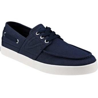 トレトン メンズ スリッポン・ローファー シューズ Motto Boat Shoe Dark Blue Cotton/Canvas