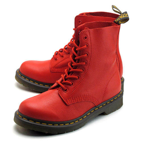特價5折!! Dr.Martens - Pascal 8 Eye Boots 八孔 馬丁鞋 / 中筒靴 (BUFFALO BLOOD 紅色)
