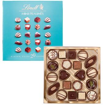 リンツ Lindt チョコレート チョコ スイーツ ギフト ミニプラリネ 100g(グリーン・ピンク・ブルー)