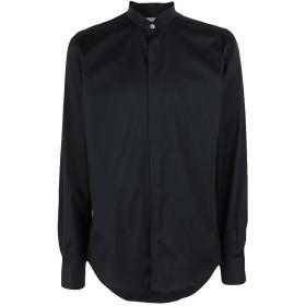 《期間限定セール開催中!》LANVIN メンズ シャツ ブラック 40 コットン 100%