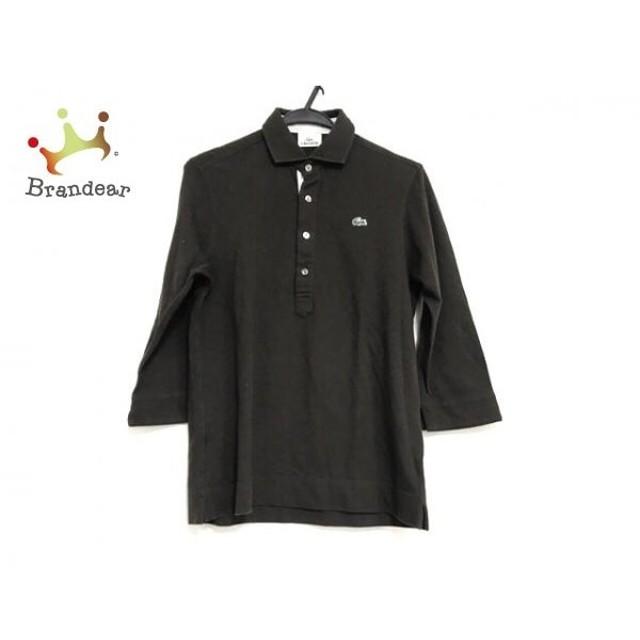 ラコステ Lacoste 長袖ポロシャツ サイズ3 L メンズ 美品 ダークブラウン   スペシャル特価 20190908