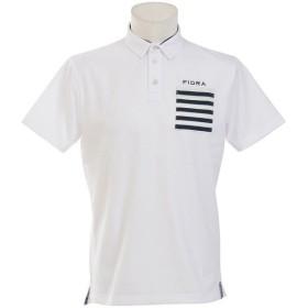 (セール)(送料無料)ゴルフ 半袖ポロ 半袖ハイネック MENS ミニ衿カノコ半袖ポロ FDA0307 メンズ ホワイト