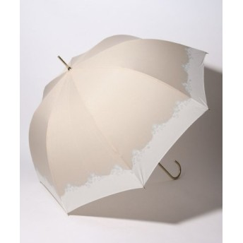 (pink trick/ピンクトリック)BE SUNNY ビーサニー 深張ジャンプ傘 長傘 フラワークラウン (晴雨兼用 UVカット 紫外線カット 耐風 軽量 撥水)/レディース ベージュ