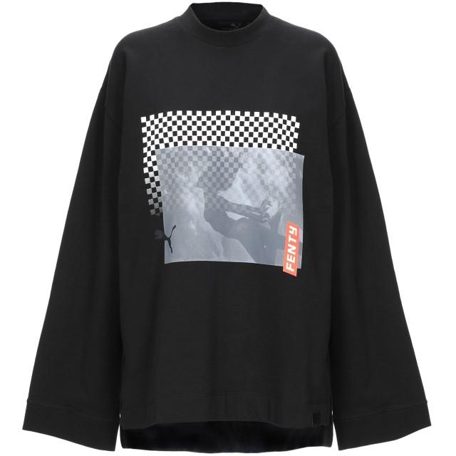 《期間限定セール開催中!》FENTY PUMA by RIHANNA レディース スウェットシャツ ブラック XXS コットン 78% / ポリエステル 17% / ポリウレタン 5%