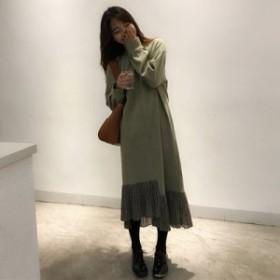 ロングワンピース 春新作 大きいサイズ 韓国 ファッション レディース ワンピース ロングワンピース ロングワンピ 春新作 カジュアル