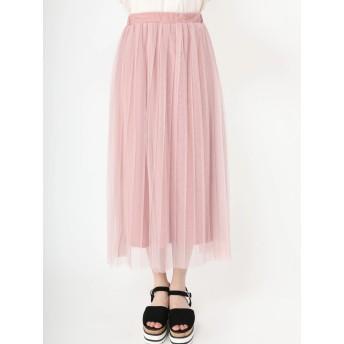 ロングスカート - CECIL McBEE チュールプリーツスカート
