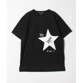 (agnes b./アニエスベー)WL84 TS ロゴビッグシルエットTシャツ/レディース ブラック 送料無料
