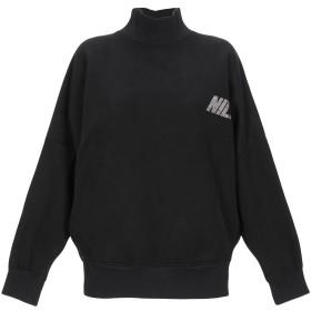 《期間限定 セール開催中》NICEBRAND レディース スウェットシャツ ブラック M コットン 100%