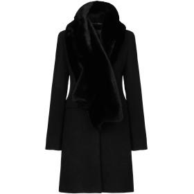 《期間限定 セール開催中》MARELLA レディース コート ブラック 44 バージンウール 80% / ナイロン 20%