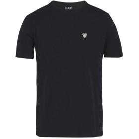 《期間限定セール開催中!》EA7 メンズ T シャツ ブラック L コットン 96% / ポリウレタン 4% TRAIN CORE SHIELD M TEE VN ST